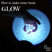 How to make water beads GLOW!