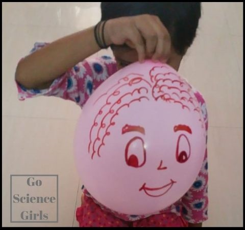 Beardless balloon man