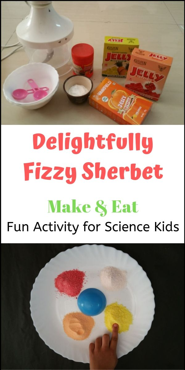 How to make fizzy sherbet - edible science that kids can make (and eat). Kids love this! From Go Science Girls