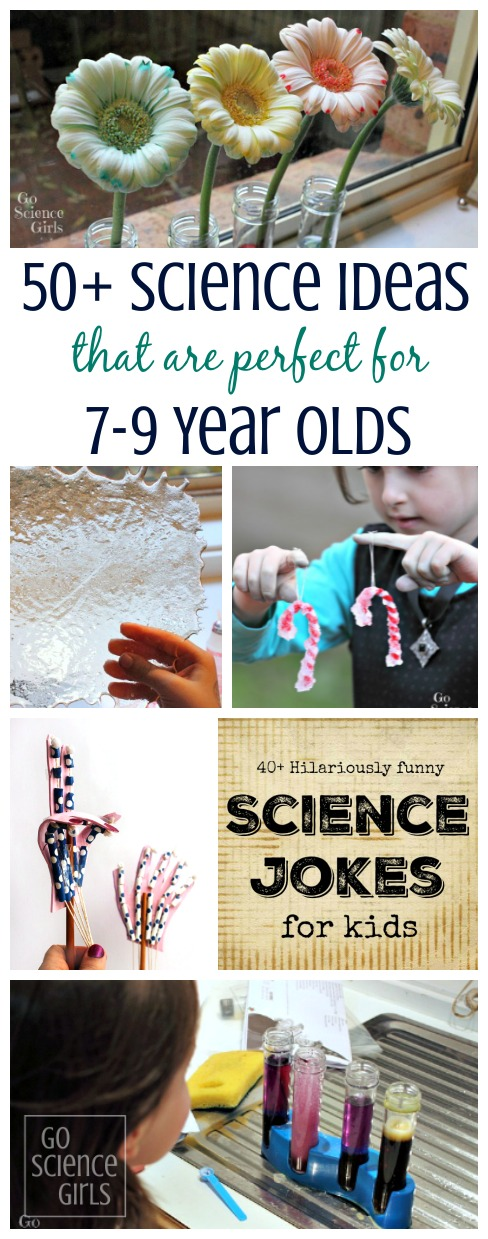 Over 50 fun science ideas and experiments that are perfect for 7-9 year olds to do at home.