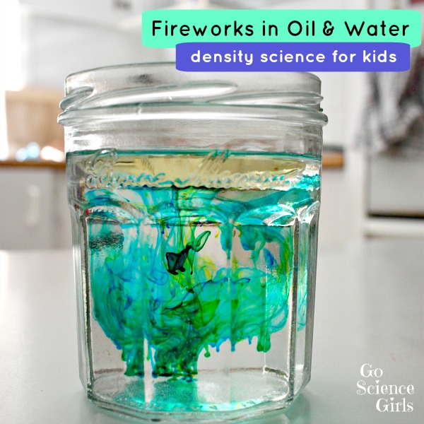 Density science how to make 'fireworks' in oil and water.