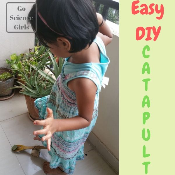 Easy DIY Upcycled Catapult - science play for kids