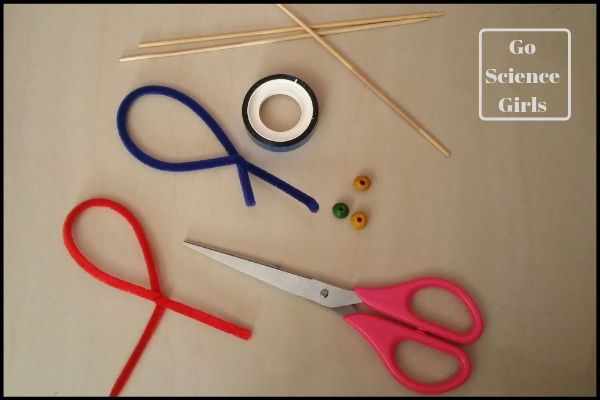 Materials to make heart shaped bubble wands