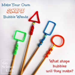 Make your own shape bubble wands - what shape bubbles will they make