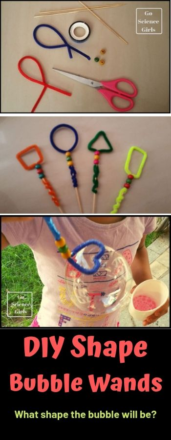 Shape Bubble Wands what size bubbles will they make