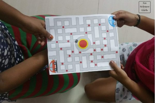 DIY magnet maze, with free printable templates