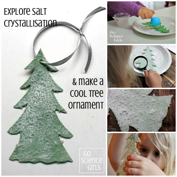 Explore salt crystallisation and make a cool tree ornament - fun Christmas science project for kids