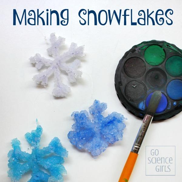 Borax crystal snowflakes experiment