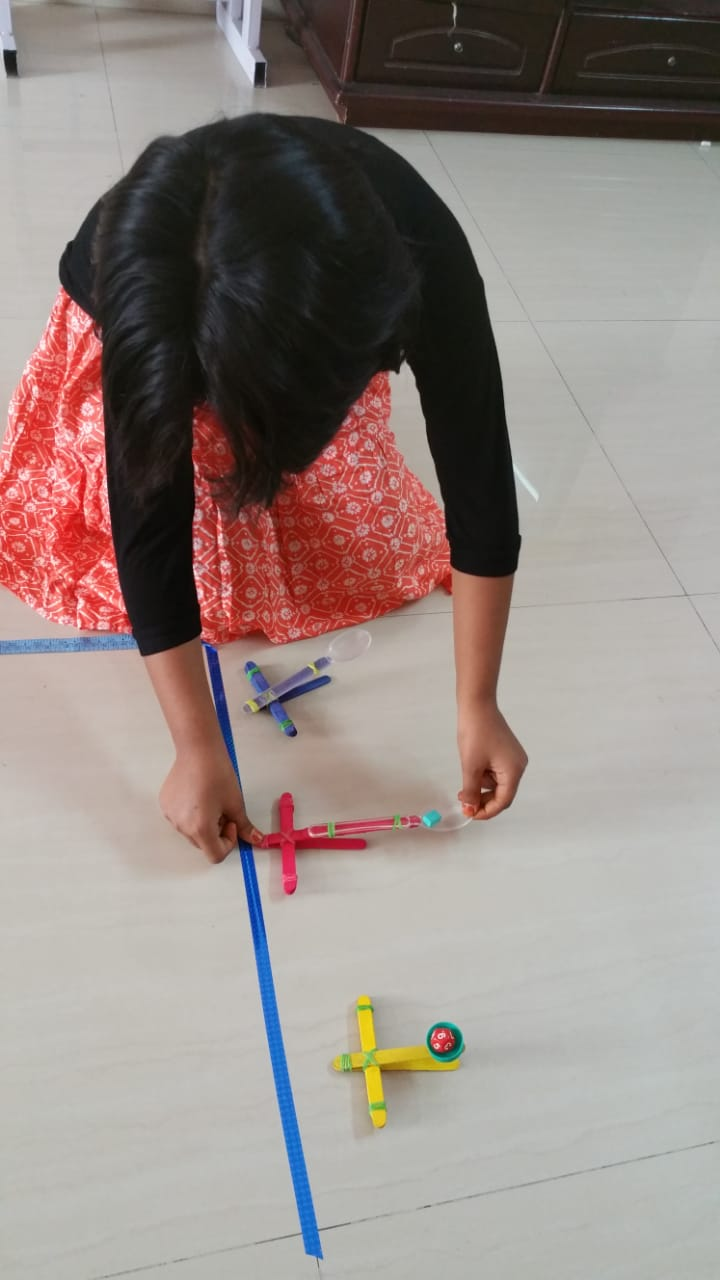 Catapult science, engineering and maths (STEM) activity for kids