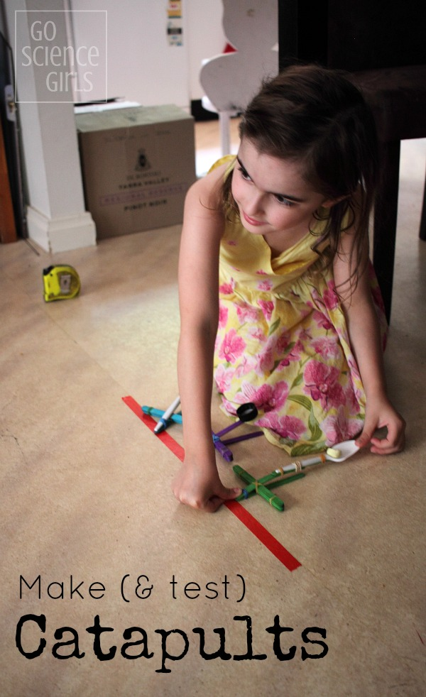 Make (and test) catapults! Fun catapult STEM activity for kids, that combines science, engineering and math concepts with play