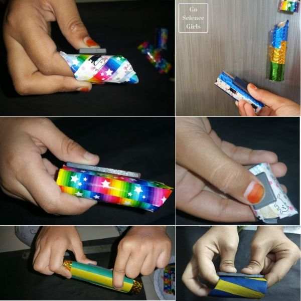 Creating magnetic marble run pieces