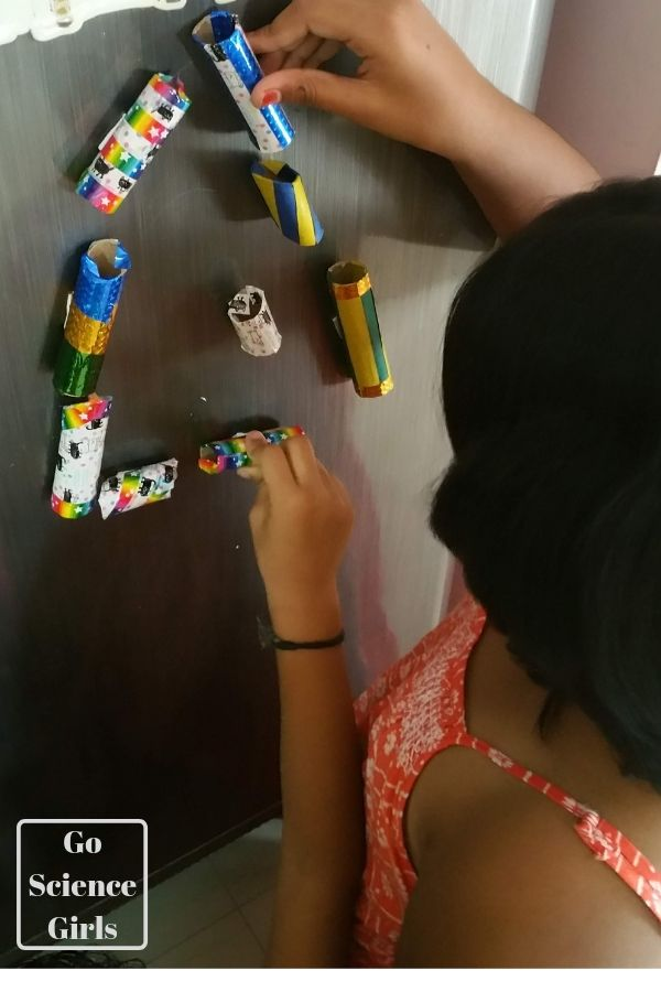 Fridge door marble run