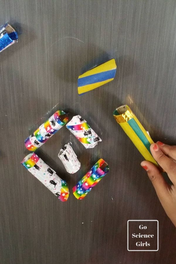 Make a colourful DIY magnetic marble run