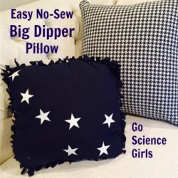 Easy, no-sew Big Dipper constellation pillow - that glows in the dark! Fun science craft to teach kids about space and constellations