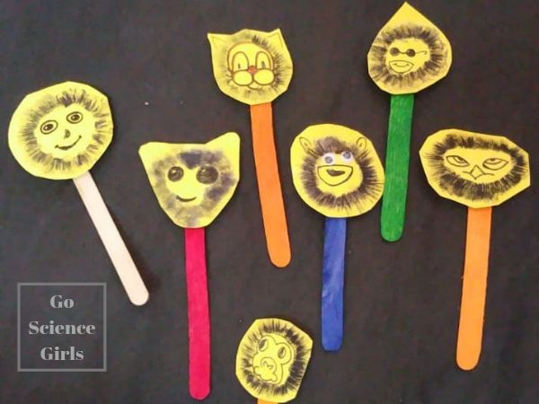 Mushroom monkeys! Fun science craft idea where kids can learn about mushroom biology and spore prints