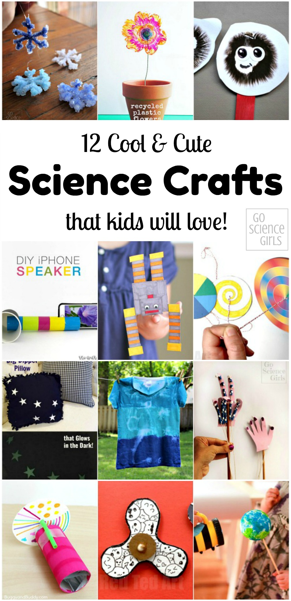 12 Cool and cute science crafts that kids will love! As recommended by Go Science Girls