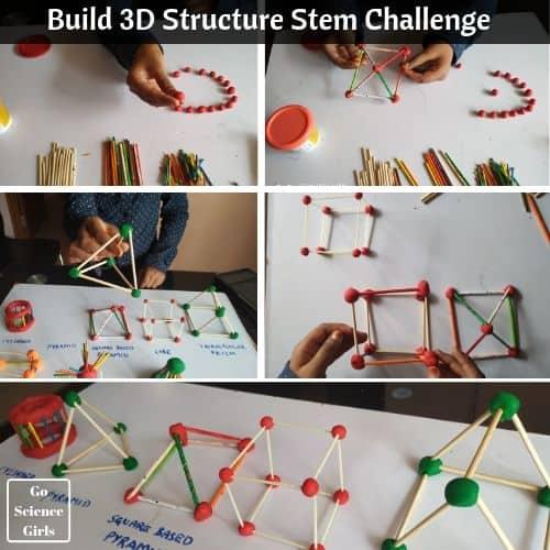 3D Structure Stem challenge for kids