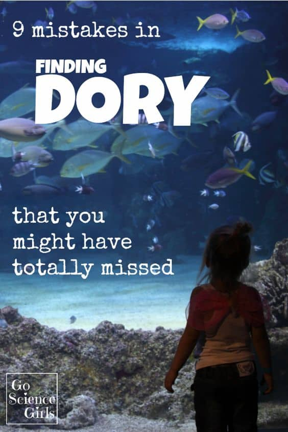 9 Mistakes in the movie Finding Dory {that you might have totally missed} - fun marine animal facts for kids