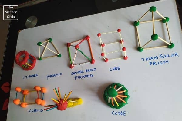Different 3d structure experiment for kids