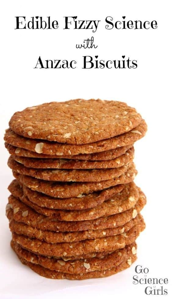 Edible Fizzy Science with Anzac Biscuits