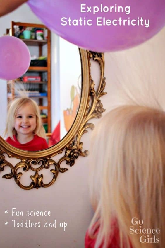 Exploring static electricity - fun science for toddlers and up