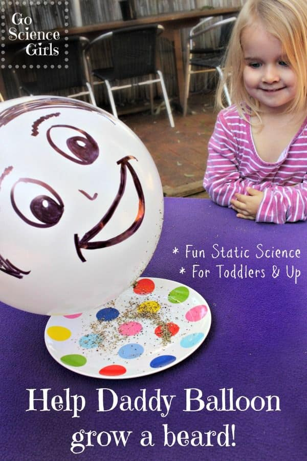 Help Daddy Balloon grow a beard - fun static science experiment for young kids