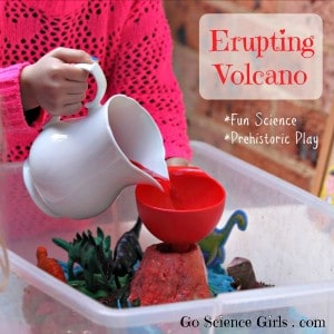 Erupting Volcano - fun science - prehistoric play