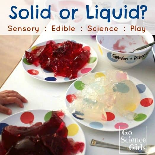 Solid or Liquid Sensory Edible Science Play for kids