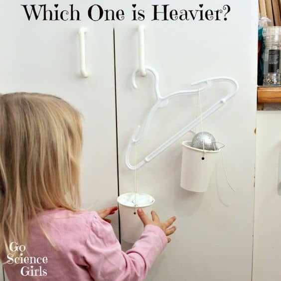 Which one is heavier - fun balance scales science for toddlers