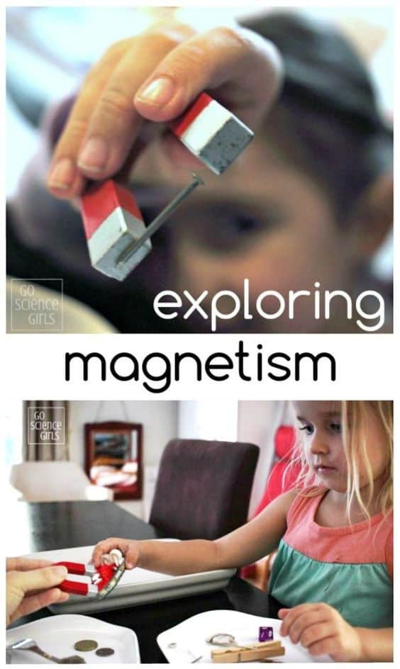 exploring magnetism - easy magnetic science experiment for kids