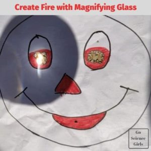 Create Fire with magnifying Glass