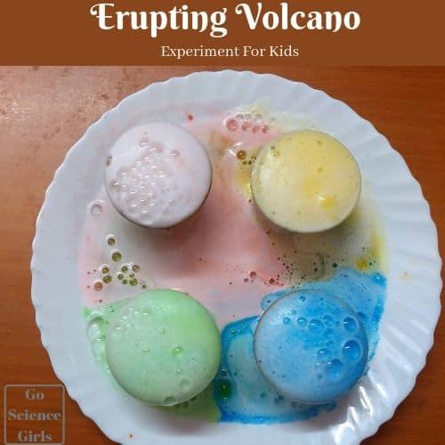 Erupting-volcano experiment for kids