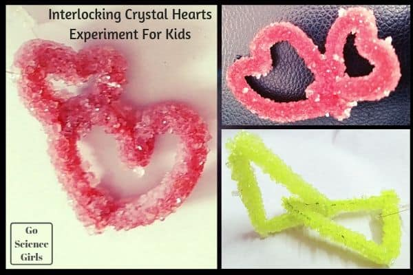 Interlocking crystal heart experiment for kids