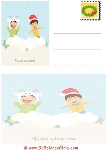 Merry Christmas Post Card Template