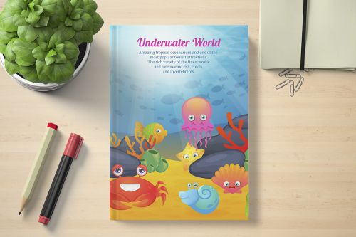 Under Water World Book template