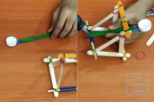 attach rubber band for rotating motion