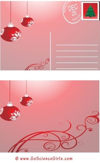 free printable christmas postcard templates