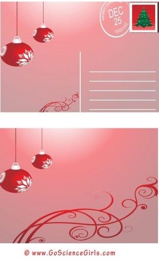 free printable christmas postcard templates