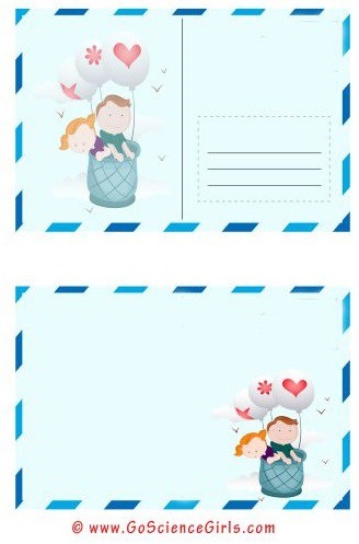 greeting post card template for kids