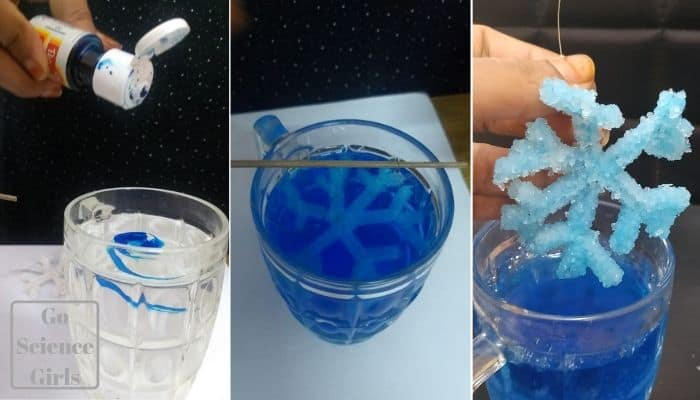 how to make borax crystal snowflakes