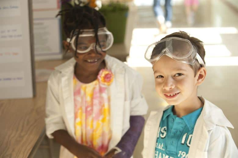 Kids Wearing Safety Glasses