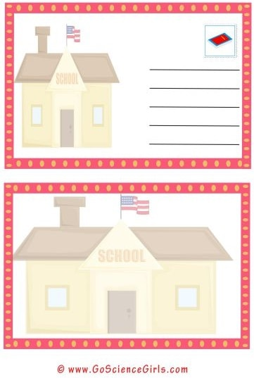 school postcard template for kids