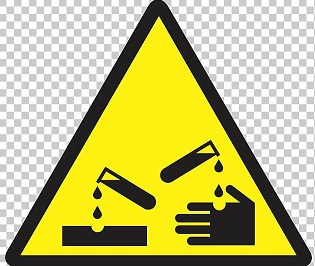 Lab Safety Corrosive Substance Symbol