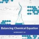Balancing Chemical Equation Worksheet 20