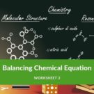 Balancing Chemical Equation Worksheet 3