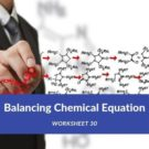 Balancing Chemical Equation Worksheet 30