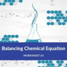 Balancing Chemical Equation Worksheet 65