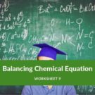 Balancing Chemical Equation Worksheet 9
