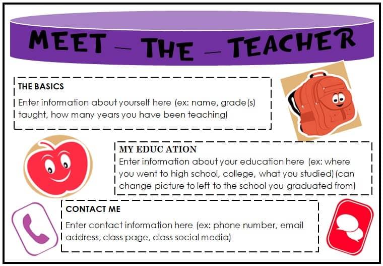 Meet The Teacher Letter Template Free from gosciencegirls.com