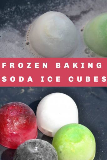 Frozen Baking Soda Ice Cubes Science